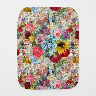 Colorful Vintage Floral Burp Cloth