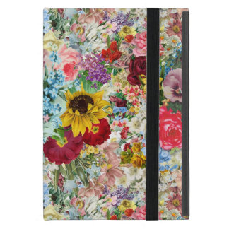 Colorful Vintage Floral iPad Mini Cover