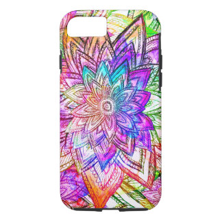 Colorful Vintage Floral Pattern Drawing Watercolor iPhone 8/7 Case
