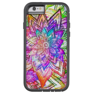 Colorful Vintage Floral Pattern Drawing Watercolor Tough Xtreme iPhone 6 Case