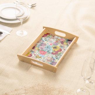 Colorful Vintage Floral Serving Tray