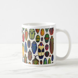 Colorful Vintage Illustrated Beetles Coffee Mug