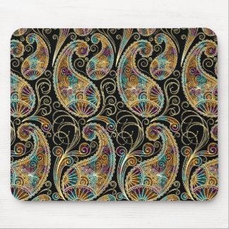 Colorful Vintage Ornate Paisley Design Mouse Mat