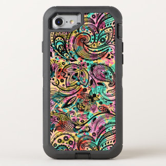 Colorful Vintage Paisley Pattern OtterBox Defender iPhone 8/7 Case