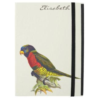 Colorful vintage parrot illustration