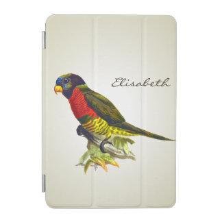 Colorful vintage parrot illustration iPad mini cover