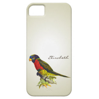 Colorful vintage parrot illustration iPhone 5 case