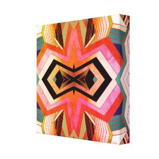 Colorful Vintage Vibes Geometric Canvas Print