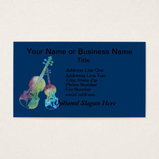 Colorful Violin and Viola Business Card