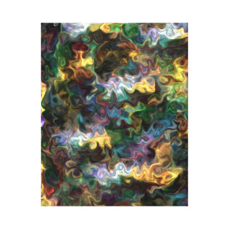 colorful vivid abstract Find Peace 228Y Canvas Print