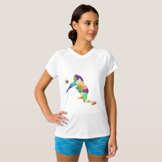Colorful voleyball player women's t-shirt