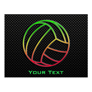 Colorful Volleyball Postcard