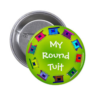 Colorful Wagons Circle Pinback Button