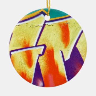 colorful wall graffiti christmas ornament