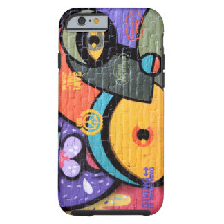 Colorful wall graffiti eyes Peace and Love Tough iPhone 6 Case