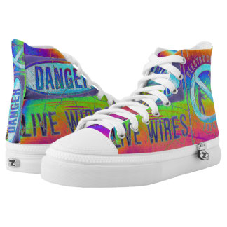 Colorful Warning High Tops