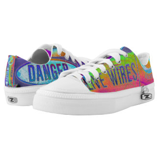 Colorful Warning Low Tops