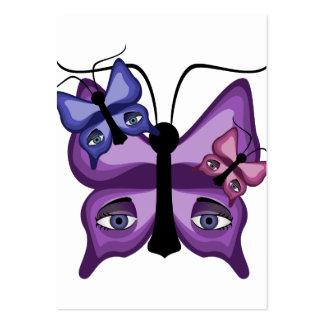 Colorful Watcher Butterflies Business Card Template