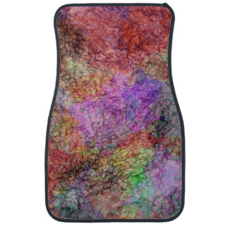 Colorful Water Color Swirl Mist Car Mat
