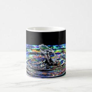 Colorful water drop splash mug
