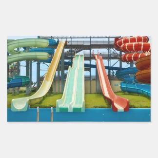 Colorful Water Slides Rectangular Sticker