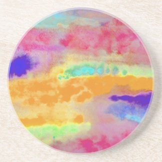 Colorful Watercolor abstract Coaster