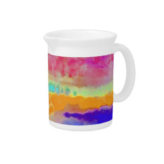 Colorful Watercolor abstract Pitcher
