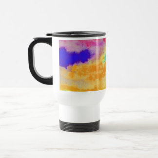 Colorful Watercolor abstract Travel Mug