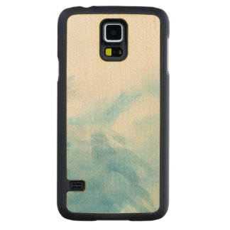 colorful watercolor background for your 2 carved maple galaxy s5 case