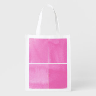 colorful watercolor background for your 2 reusable grocery bag