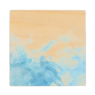 colorful watercolor background for your 2 wood coaster