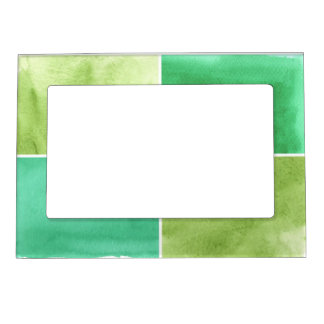 colorful watercolor background for your 6 magnetic frame