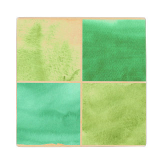 colorful watercolor background for your 6 wood coaster