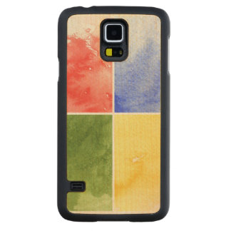 colorful watercolor background for your design carved maple galaxy s5 case
