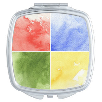 colorful watercolor background for your design compact mirrors