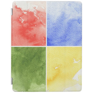 colorful watercolor background for your design iPad cover