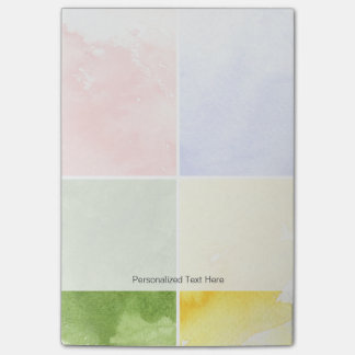 colorful watercolor background for your design post-it notes