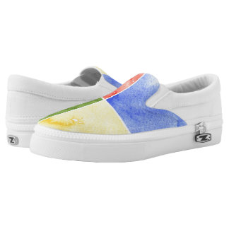 colorful watercolor background for your design Slip-On shoes