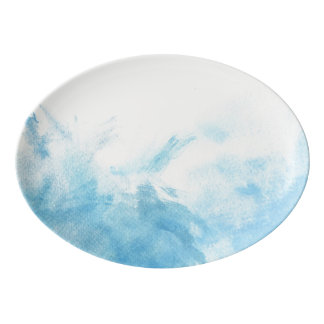 colorful watercolor background for your porcelain serving platter