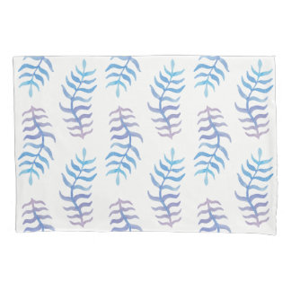 Colorful watercolor branches pillowcase