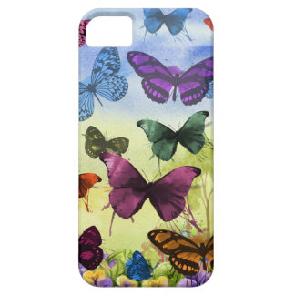 Colorful watercolor butterflies illustration case for the iPhone 5