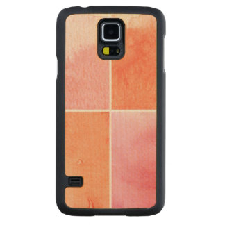 colorful watercolor carved maple galaxy s5 case