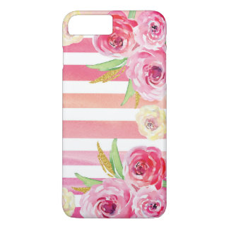 Colorful Watercolor Floral Pattern iPhone 8 Plus/7 Plus Case