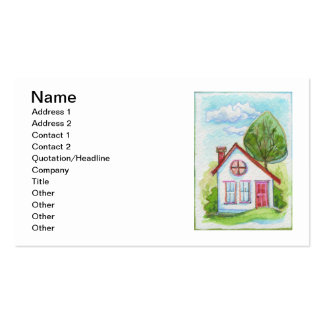 Colorful Watercolor House Pack Of Standard Business Cards