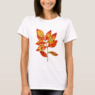 Colorful watercolor  leaf T-Shirt
