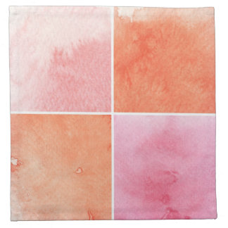 colorful watercolor napkin