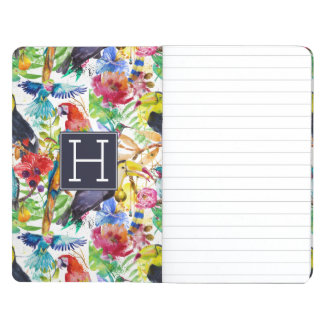 Colorful Watercolor Parrots   Add Your Initial Journal