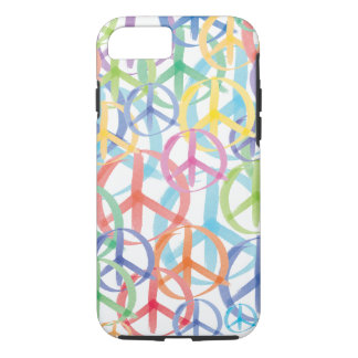Colorful Watercolor Peace Symbols iPhone 8/7 Case