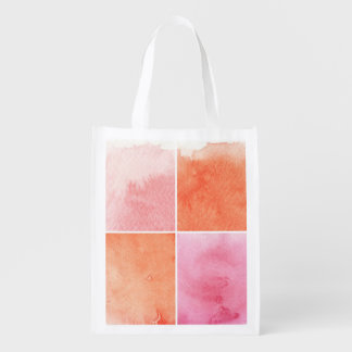 colorful watercolor reusable grocery bag