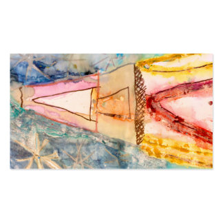 Colorful Watercolor Rocket Design Pack Of Standard Business Cards